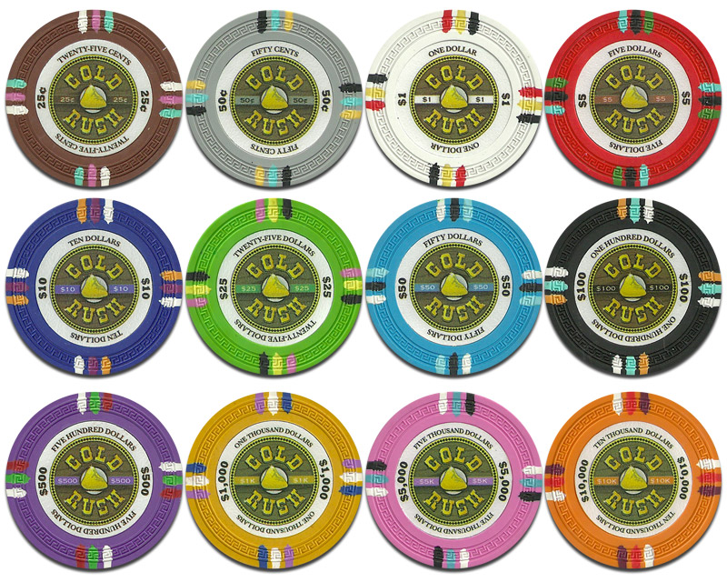 Claysmith Gaming Gold Rush Poker Chips