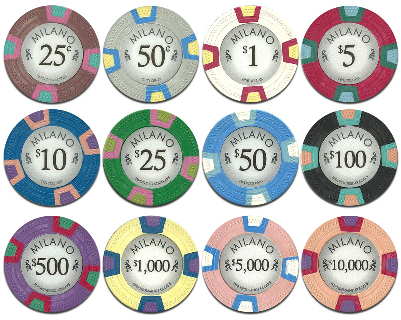 Casino chip value money bags casino