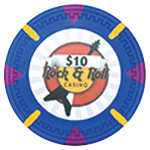 Claysmith Gaming - Rock and Roll Poker Chip