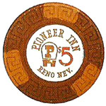 The Pioneer Inn Poker Chip