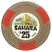 The Sahara Poker Chip