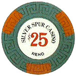 The Silver Spur Poker Chip